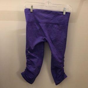 lululemon athletica Pants - Lululemon purple ebb & flow crops sz 4 71216